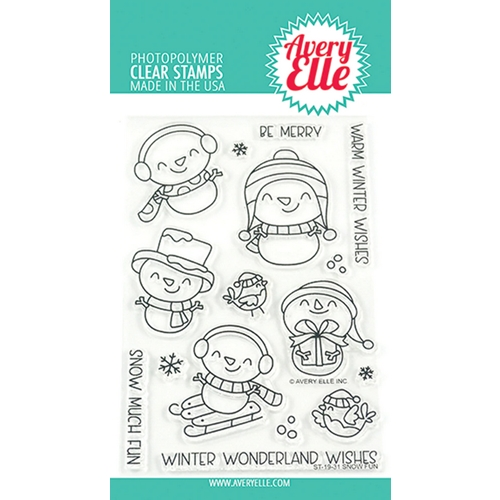 Avery Elle Clear Stamps SNOW FUN ST-19-31 Preview Image