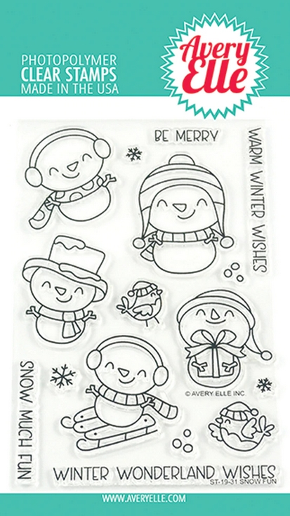 Avery Elle Clear Stamps SNOW FUN ST-19-31 zoom image