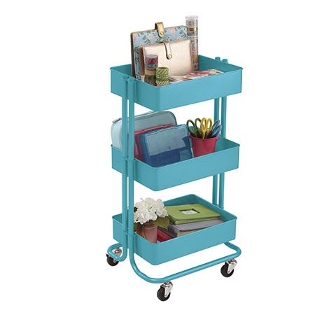 Darice METAL ROLLING UTILITY CART Turquoise 30075773 Preview Image