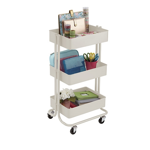 Darice METAL ROLLING UTILITY CART Almond 30075772 Preview Image