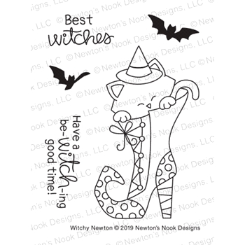 Newton's Nook WITCHY NEWTON Clear Stamps NN1908S04
