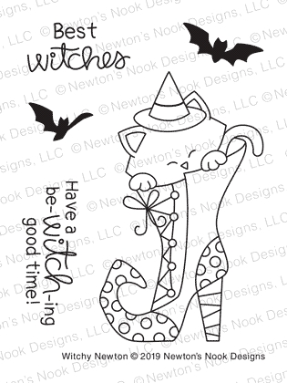 Newton's Nook WITCHY NEWTON Clear Stamps NN1908S04 zoom image