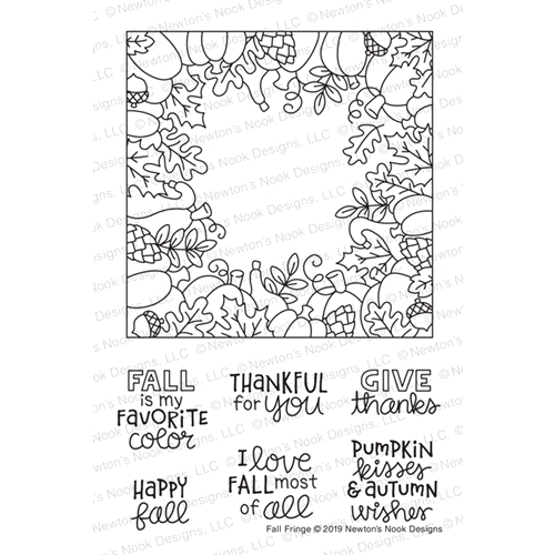 Newton's Nook Designs FALL FRINGE Clear Stamps NN1908S06 Preview Image
