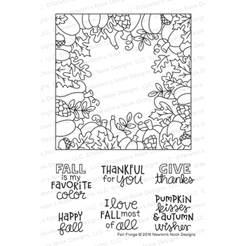 Newton's Nook Designs FALL FRINGE Clear Stamps NN1908S06