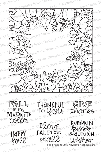 Newton's Nook Designs FALL FRINGE Clear Stamps NN1908S06 zoom image