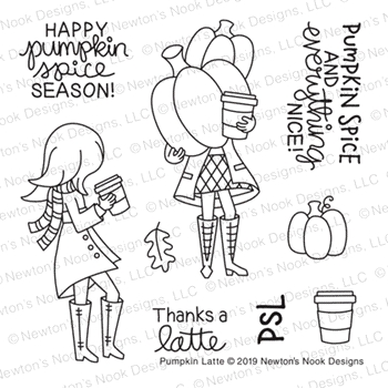 Newton's Nook Designs PUMPKIN LATTE Clear Stamps NN1908S02