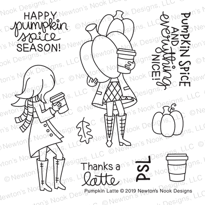 Newton's Nook Designs PUMPKIN LATTE Clear Stamps NN1908S02 zoom image
