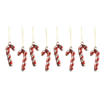Darice MINI METALLIC CANDY CANE ORNAMENTS Seasonal Accents 2439-91