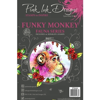 Pink Ink Designs FUNKY MONKEY A5 Clear Stamps pi044