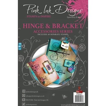 Pink Ink Designs HINGE AND BRACKET A5 Clear Stamps pi043*