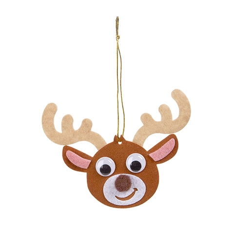 Darice FELT REINDEER ORNAMENT CRAFT KIT Felties flt-3031d zoom image