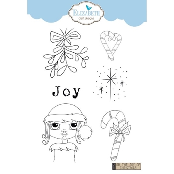 Elizabeth Craft Designs Clear Stamps OH THE JOY OF CHRISTMAS cs154