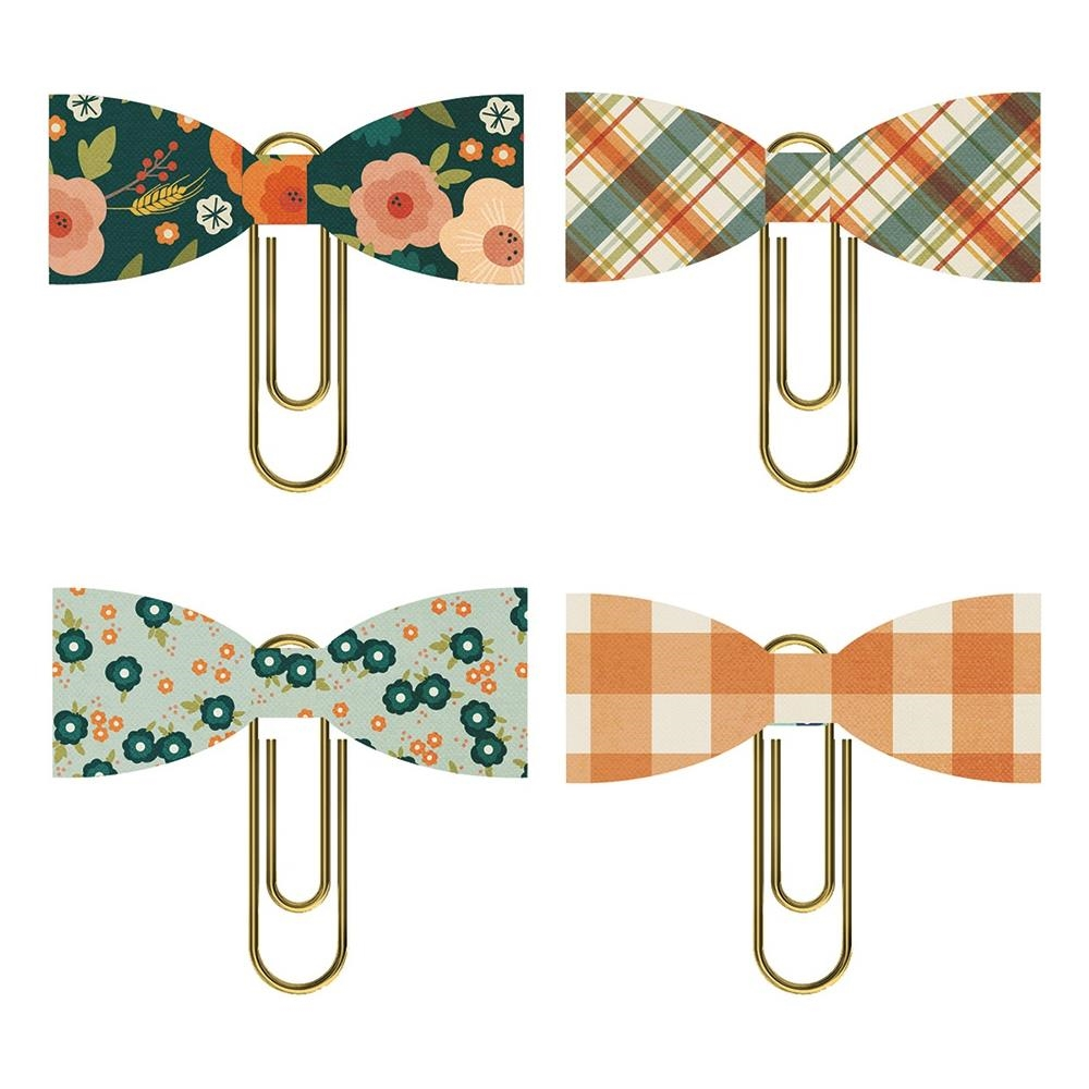Simple Stories FALL FARMHOUSE Bow Clips 11124* zoom image