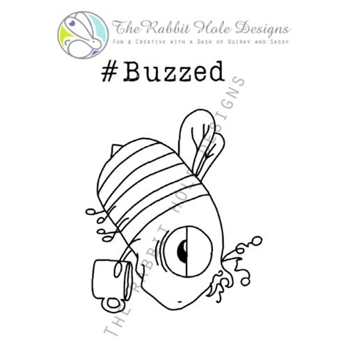 The Rabbit Hole Designs CAFFEINATED BEE Clear Stamps TRH-10 Preview Image