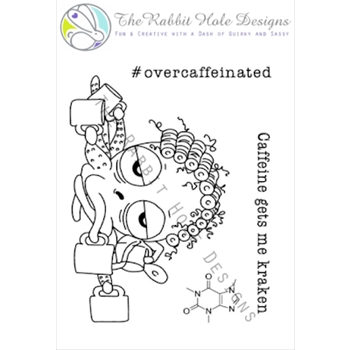 The Rabbit Hole Designs CAFFEINATED OCTOPUS Clear Stamps TRH-04