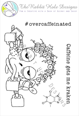 The Rabbit Hole Designs CAFFEINATED OCTOPUS Clear Stamps TRH-04 zoom image