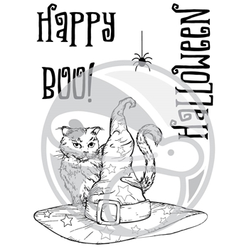 The Rabbit Hole Designs BOO TO YOU Clear Stamps TRH-26