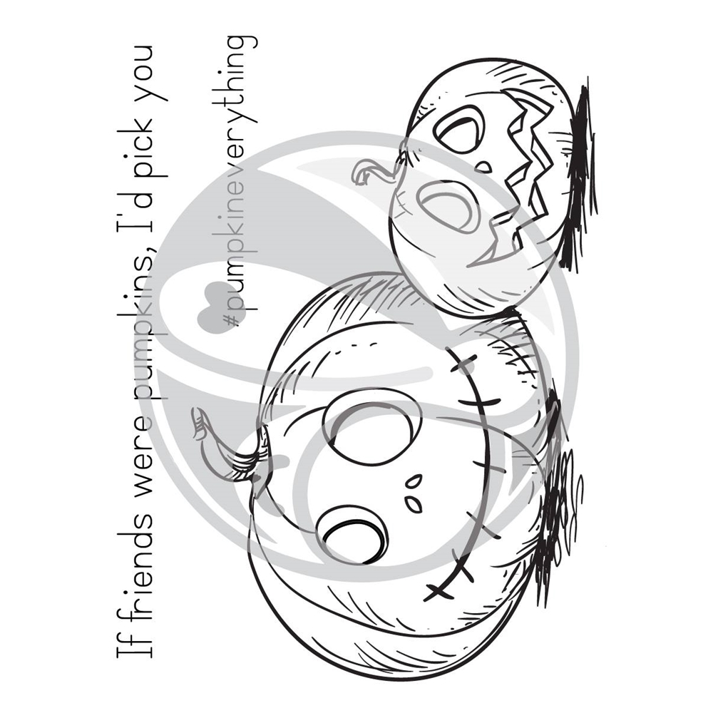 The Rabbit Hole Designs PUMPKIN FRIENDS Clear Stamps TRH-29 zoom image