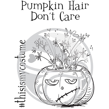 The Rabbit Hole Designs PUMPKIN HAIR DON'T CARE Clear Stamps TRH-28