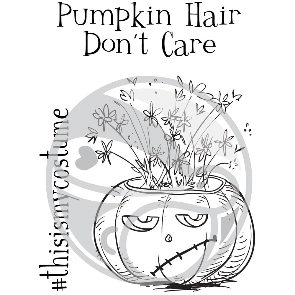 The Rabbit Hole Designs PUMPKIN HAIR DON'T CARE Clear Stamps TRH-28 zoom image