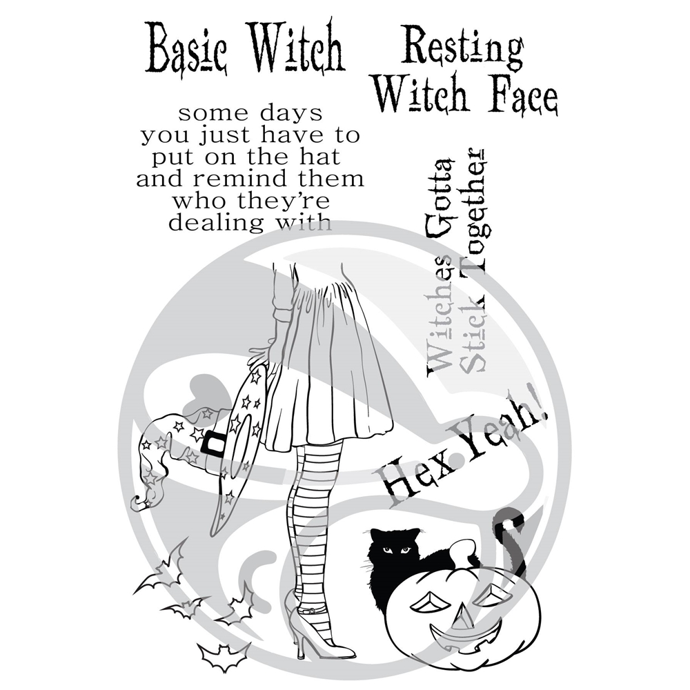 The Rabbit Hole Designs HEX YEAH Clear Stamps TRH-27 zoom image