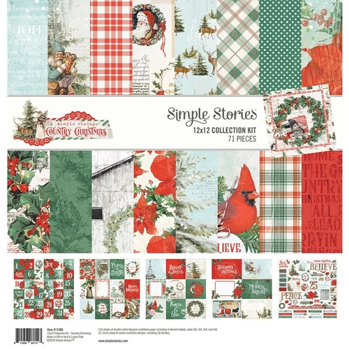 Simple Stories COUNTRY CHRISTMAS 12 x 12 Collection Kit 11300 Preview Image