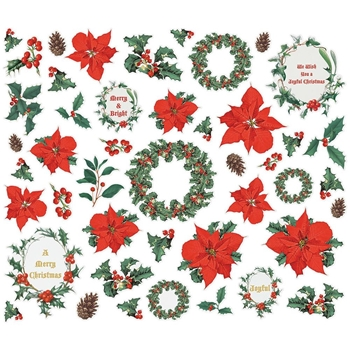 Simple Stories COUNTRY CHRISTMAS Floral Bits And Pieces 11322