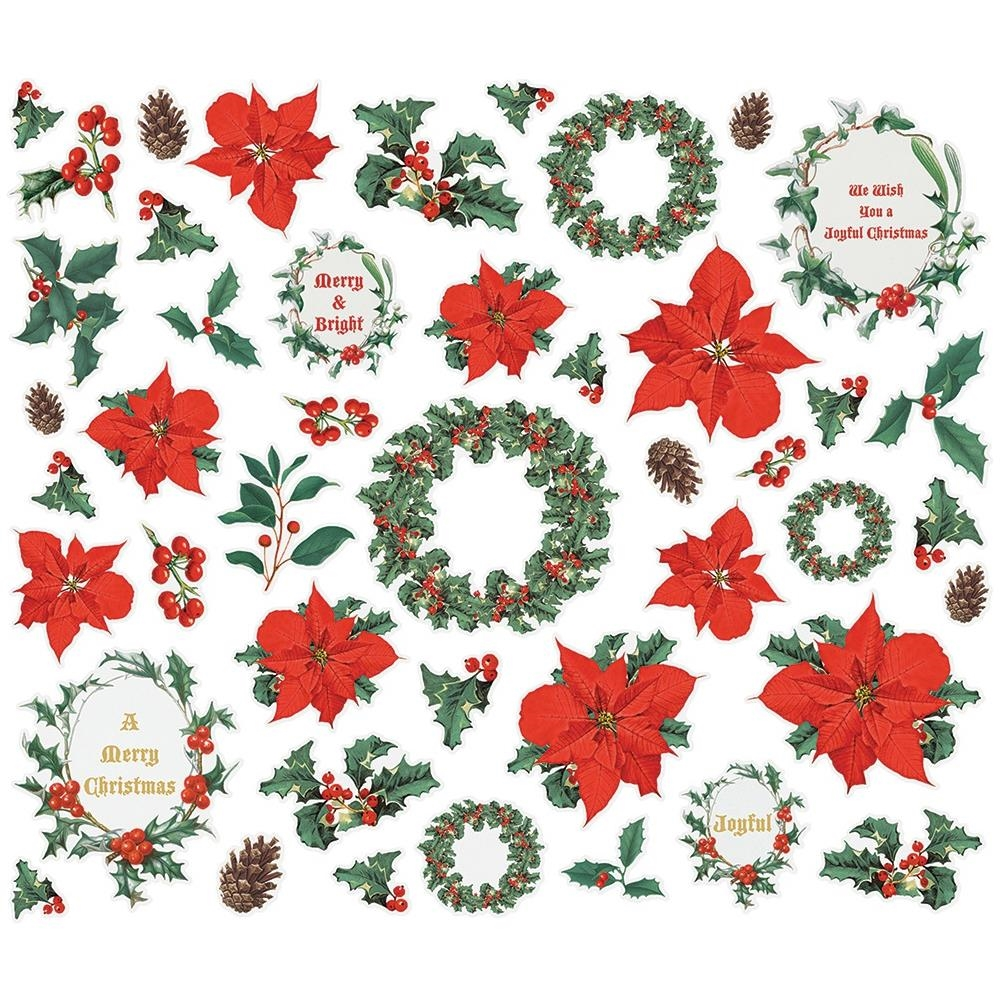 Simple Stories COUNTRY CHRISTMAS Floral Bits And Pieces 11322 zoom image