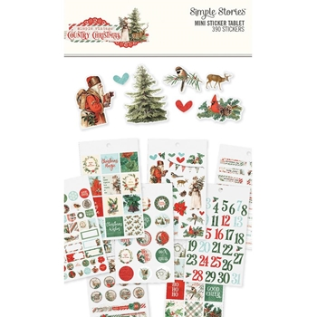 Simple Stories COUNTRY CHRISTMAS Mini Sticker Tablet 11323