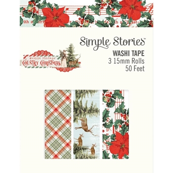 Simple Stories COUNTRY CHRISTMAS Washi Tape 11326