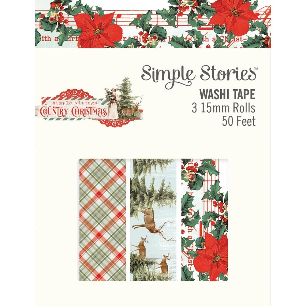 Simple Stories COUNTRY CHRISTMAS Washi Tape 11326 zoom image