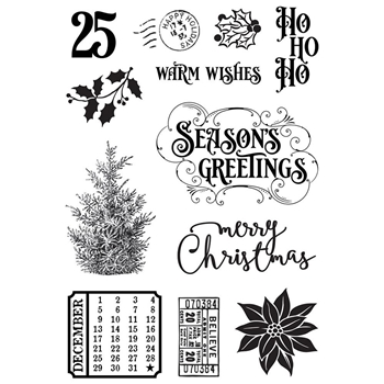 Simple Stories COUNTRY CHRISTMAS Clear Stamp Set 11329
