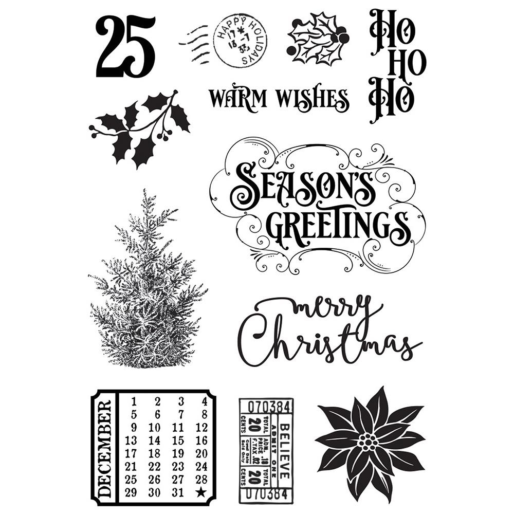 Simple Stories COUNTRY CHRISTMAS Clear Stamp Set 11329 zoom image