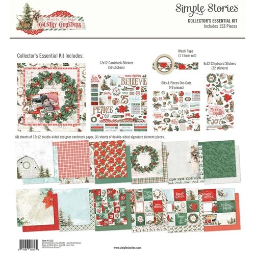 Simple Stories COUNTRY CHRISTMAS 12 x 12 Collector's Essential Kit 11332 Preview Image