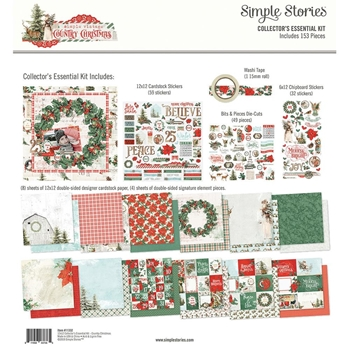 Simple Stories COUNTRY CHRISTMAS 12 x 12 Collector's Essential Kit 11332