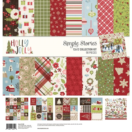 Simple Stories HOLLY JOLLY 12 x 12 Collection Kit 11400 Preview Image