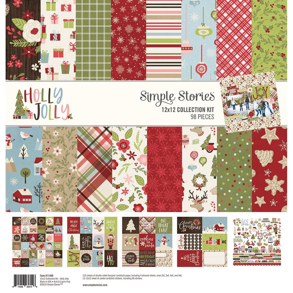 Simple Stories HOLLY JOLLY 12 x 12 Collection Kit 11400 zoom image