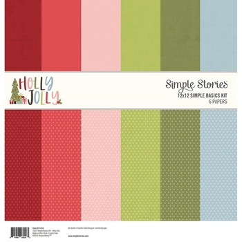 Simple Stories HOLLY JOLLY 12 x 12 Basics Kit 11414