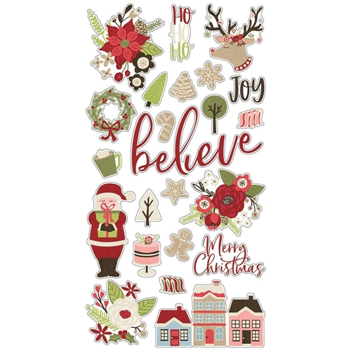 Simple Stories HOLLY JOLLY 6 x 12 Chipboard Stickers 11419 Preview Image