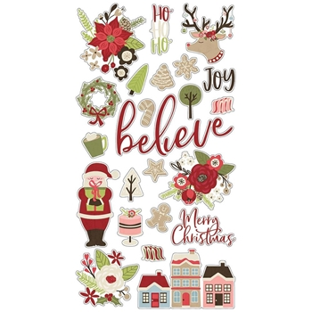 Simple Stories HOLLY JOLLY 6 x 12 Chipboard Stickers 11419