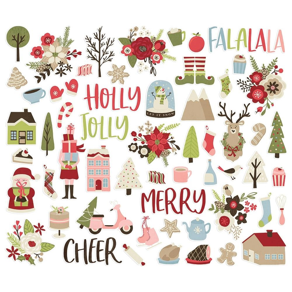 Simple Stories HOLLY JOLLY Bits And Pieces 11420 zoom image