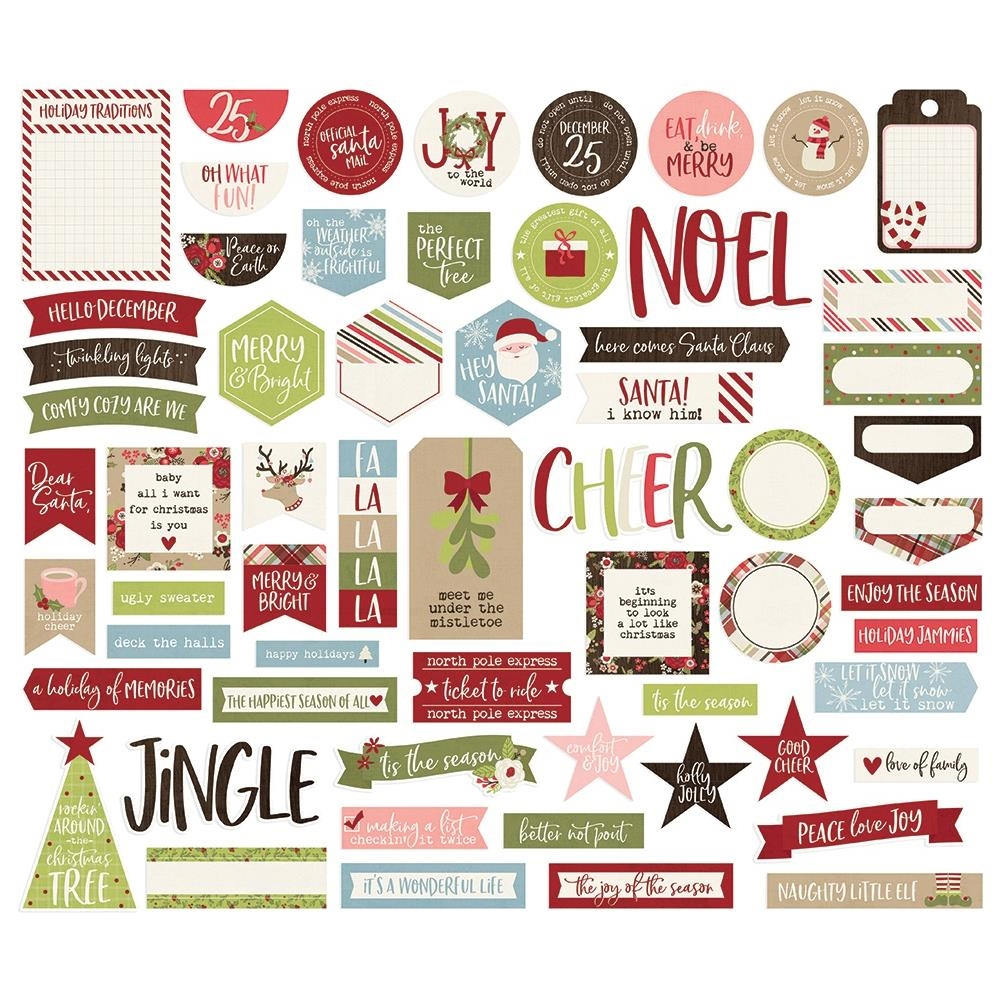 Simple Stories HOLLY JOLLY Journal Bits And Pieces 11421 zoom image