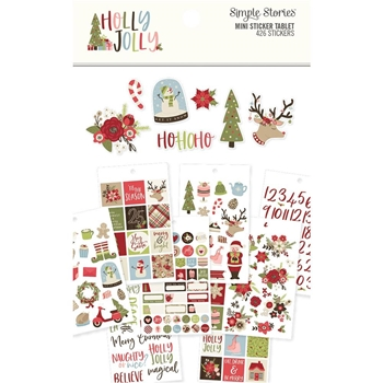 Simple Stories HOLLY JOLLY Mini Sticker Tablet 11422
