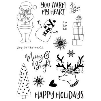 Simple Stories HOLLY JOLLY Clear Stamp Set 11427