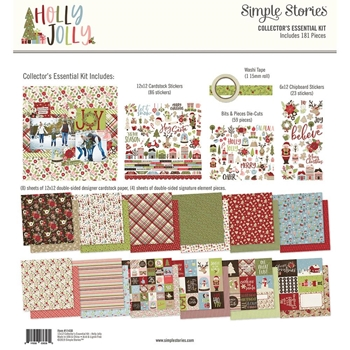 Simple Stories HOLLY JOLLY 12 x 12 Collector's Essential Kit 11430