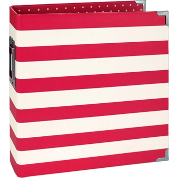 Simple Stories RED STRIPE 6 x 8 Snap Binder 10774