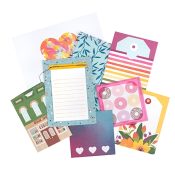 American Crafts Amy Tangerine CARDS AND ENVELOPES Slice of Life 354162