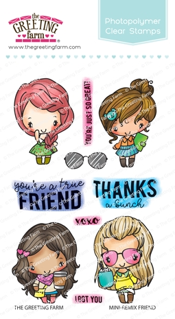 The Greeting Farm MINI REMIX FRIEND Clear Stamps TGF504 Preview Image