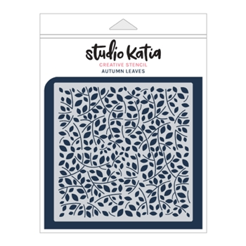 Studio Katia AUTUMN LEAVES Stencil sks019