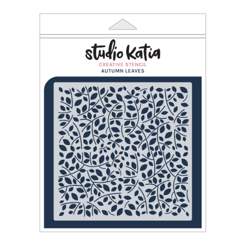 Studio Katia AUTUMN LEAVES Stencil sks019 zoom image